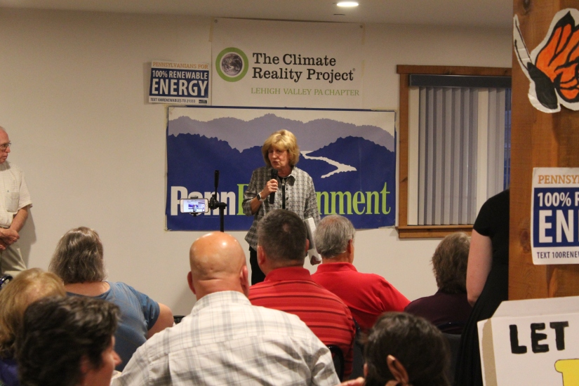 State Senator Judy Schwank speaks at the Climate on Tap event - Photo by Kaylee Lindenmuth